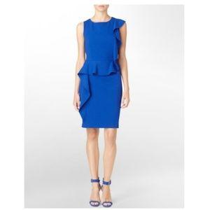 Calvin Klein Royal Blue ruffle dress